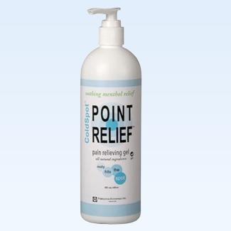 Point Relief ColdSpot gel pump, 16 ounce