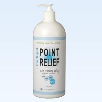 Point Relief ColdSpot gel pump, 32 ounce
