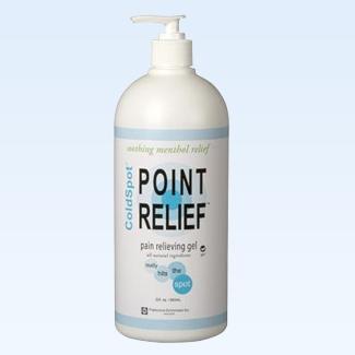 Point Relief ColdSpot gel pump, 32 ounce