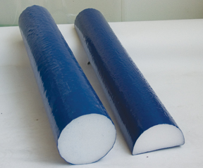 Cando Foam Roller - Blue open cell foam - 6 x 12 inch - Round
