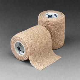Coban Self-Adherent Elastic Wrap, Beige, 5 yd. (4.6m) 2 in. (5.1cm) (36 qty)