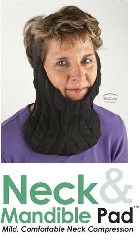 Neck/Mandible Pad for Mild, Comfortable Neck Compression
