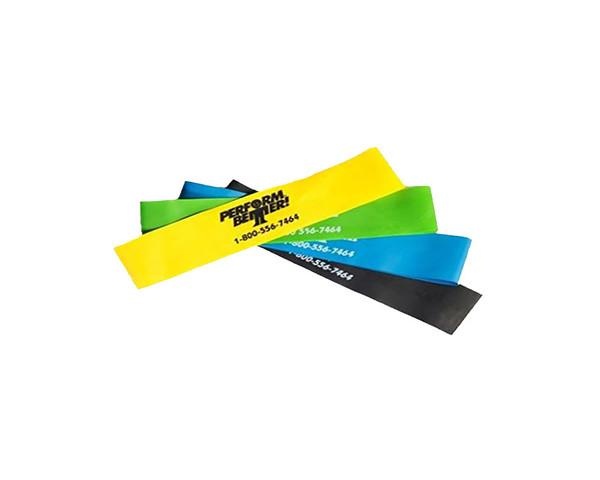 Mini Exercise Bands (Mini-Bands) Variety - 4 Pack