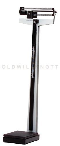 Mechanical beam scale w/ fixed poise bar w/ height rod & wheels