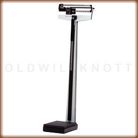 Mechanical beam scale w/ height rod & wheels - lb