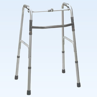 Folding adjustable walker