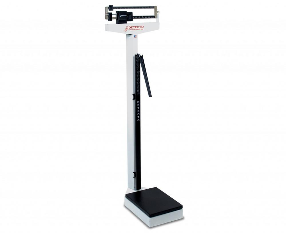 Physician's Scale, Weigh Beam, 400 lb x 4 oz, Height Rod