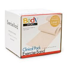 Body Sport Exercise Band, 50-yd. roll, Beige, X-Light