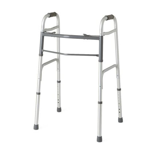 BodyMed 2 Button Folding Walker w/o Wheels