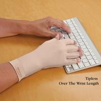 Edema Glove (tipless, over the wrist) Left - Lg