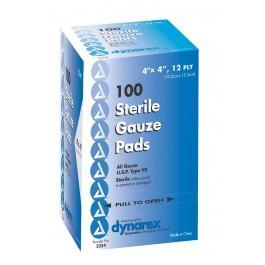 Gauze Pad Sterile 4 in. x 4 in. 12Ply (100/pk)