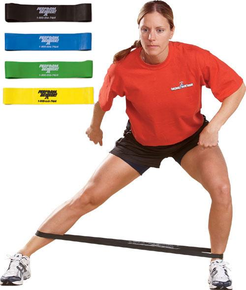 Mini Exercise Bands (Mini-Bands), Light-Yellow