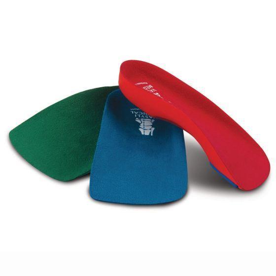 Vasyli Custom 3/4 Length Insoles, Red, X-Small