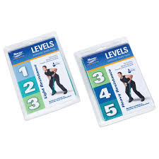 Norco LEVELS Exercise Band Resistance Packs Levels 1-3