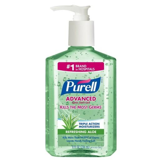 Purell Hand Sanitizer w/ Aloe, 8oz Pump