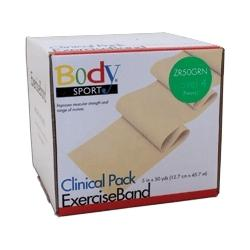 Body Sport Exercise Band, 50-yd. roll, Green, Heavy