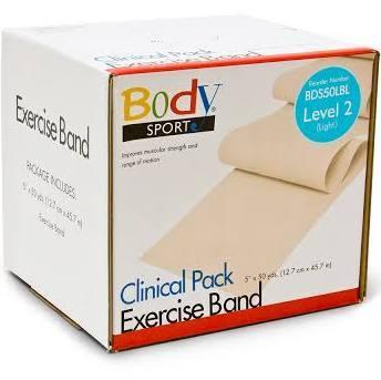 Body Sport Exercise Bands - 50 yd. Roll, Light Blue, Light