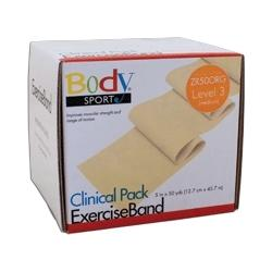 Body Sport Exercise Band, 50-yd. roll, Orange, Medium