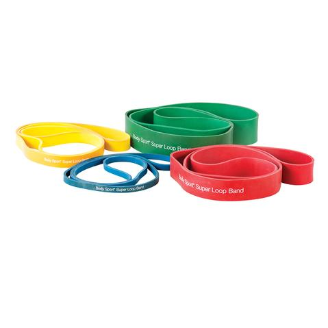 Body Sport Super Loop Band Medium (20 - 74 lbs) Yellow