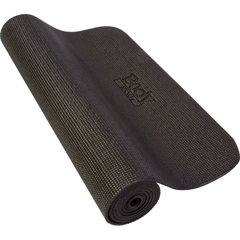"Body Sport Yoga Fitness Mat - 72"" x 24"" x 1/4"", Black"