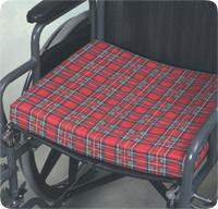 7606 deluxe wheel chair cushion plaid 4x16x18