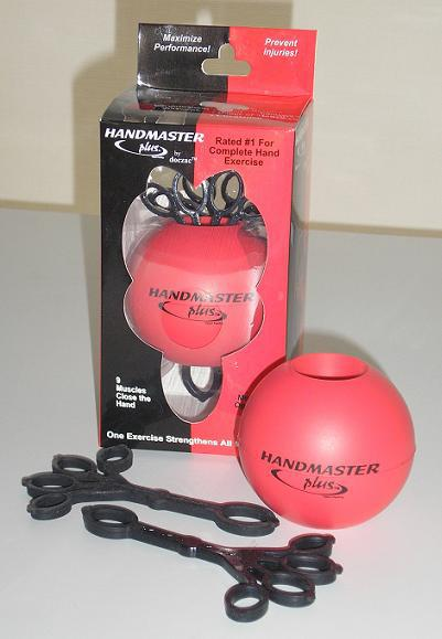Handmaster Plus Medium Soft Hand Exceriser, red with black