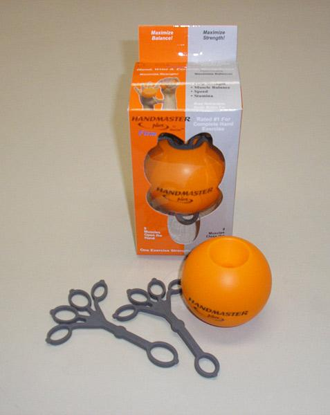 Handmaster Plus Firm Soft Hand Exceriser, orange with grey