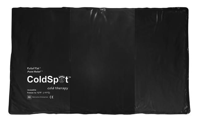 "Relief Pak ColdSpot Black Urethane Pack oversize - 11"" x 24"""