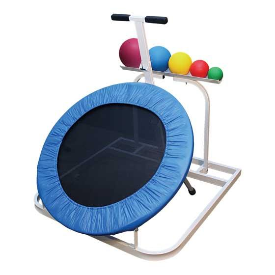 Plyometric Round Rebounder with ball rack and five medicine ball