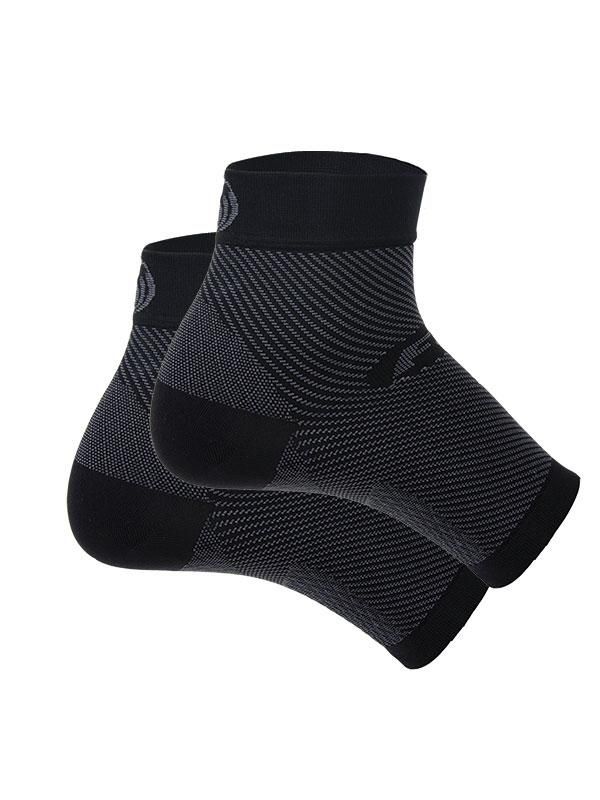 Compression Foot Sleeve - Pair (Medium,Black)