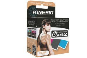 Kinesio Tex Classic, Black Regular Roll, 2 in x 13.1 ft, 6 Rolls