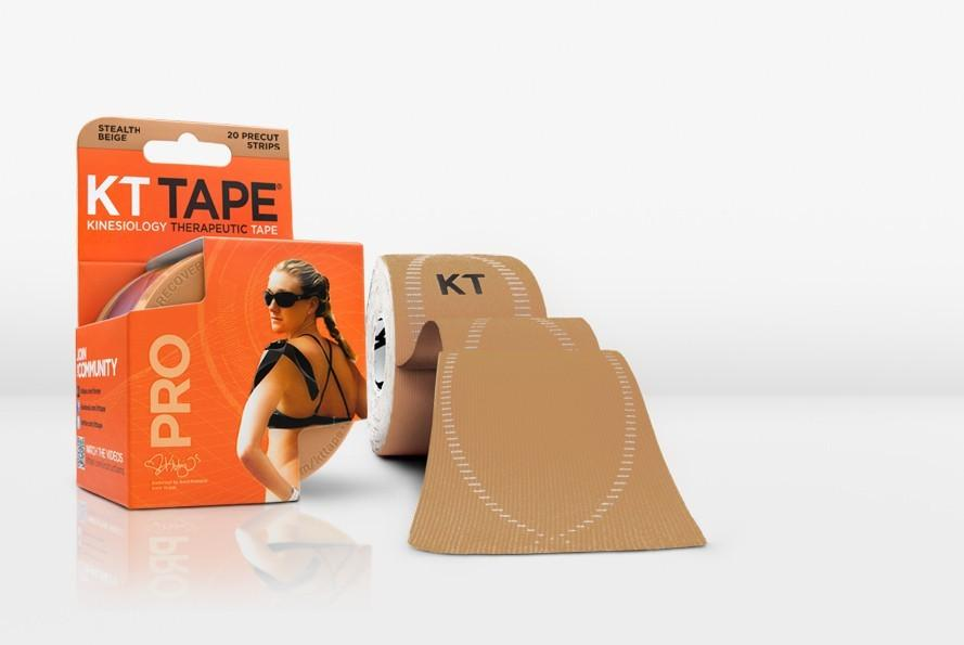 KT TAPE PRO, Pre-cut, 20 Strip, Synthetic, Stealth Beige - 16 ft