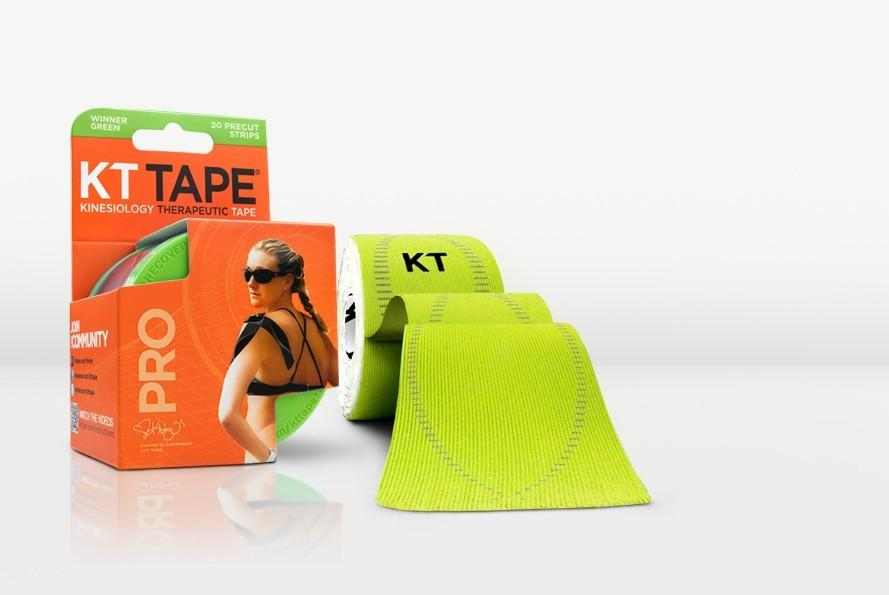 KT TAPE PRO, Pre-cut, 20 Strip, Synthetic, Winner Green - 16 ft
