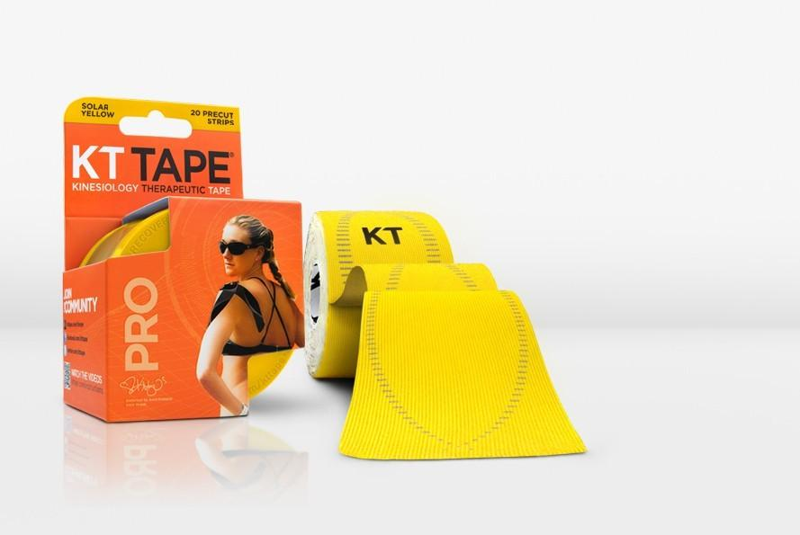KT TAPE PRO, Pre-cut, 20 Strip, Synthetic, Solar Yellow - 16 ft