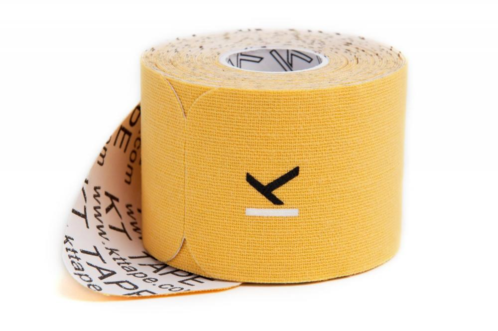KT TAPE Original, Pre-cut, 20 Strip, Cotton, Gold - 16 ft