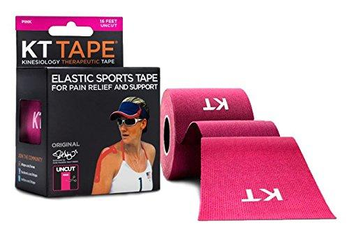KT TAPE Original, Un-cut, 16 Feet, Cotton, Pink - 16 ft