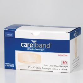 Adhesive Bandage Sheer XL (2 in. x 4 in.) (50/bx)