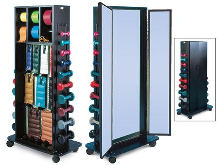 Combo Weight Rack & Triple Mirror