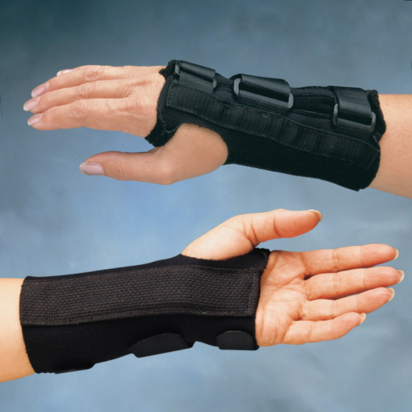 "Comfort Cool D-Ring Wrist Orthosis, Long (Large) - Left - 7-1/2"" to 8-1/2"" (19 to 22cm)"