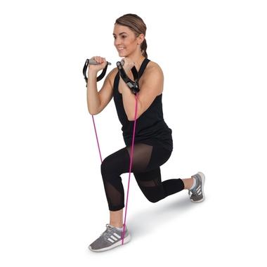 Rainbow Latex-Free Exercise Tubing 25 ft. Level 2 Medium Pink