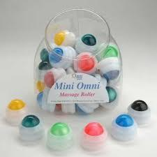 Mini Omni Massage Roller Display - 36 White Cap
