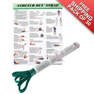 30 Stretch Out Straps with Posters FREE SHIPPING