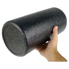High-density Black Foam Roller, 6 x 12 inch - Round