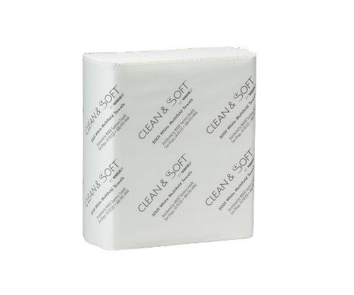 "WAXIE 2001 Clean and Soft Multi-Fold White Paper Towel, 9.25"" X 9.4"""