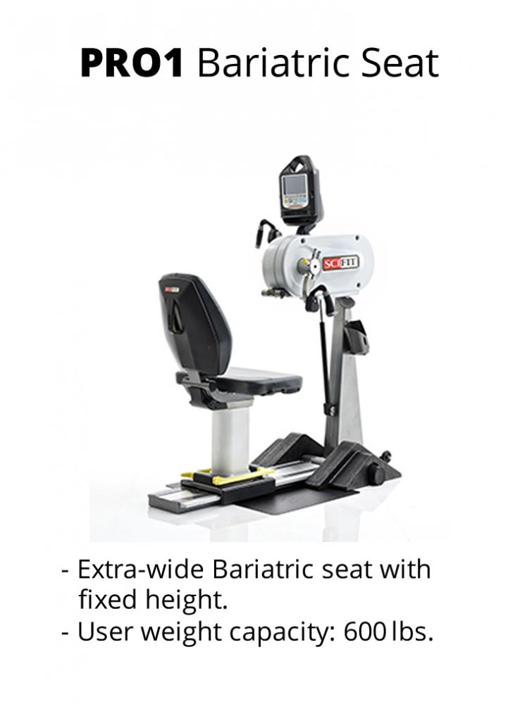 Sci-Fit PRO 1 Upper body - Adjustable tilt head, cranks - Bariatric seat