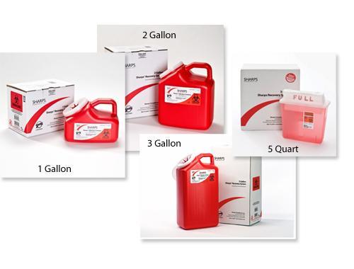 "SCI Sharps Disposal 3 Gallon (9"" x 6"" x 16.5"")"