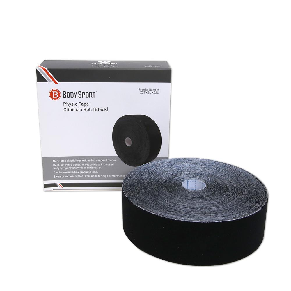 Body Sport Physio Tape 2 in. Black 33.5 yd.