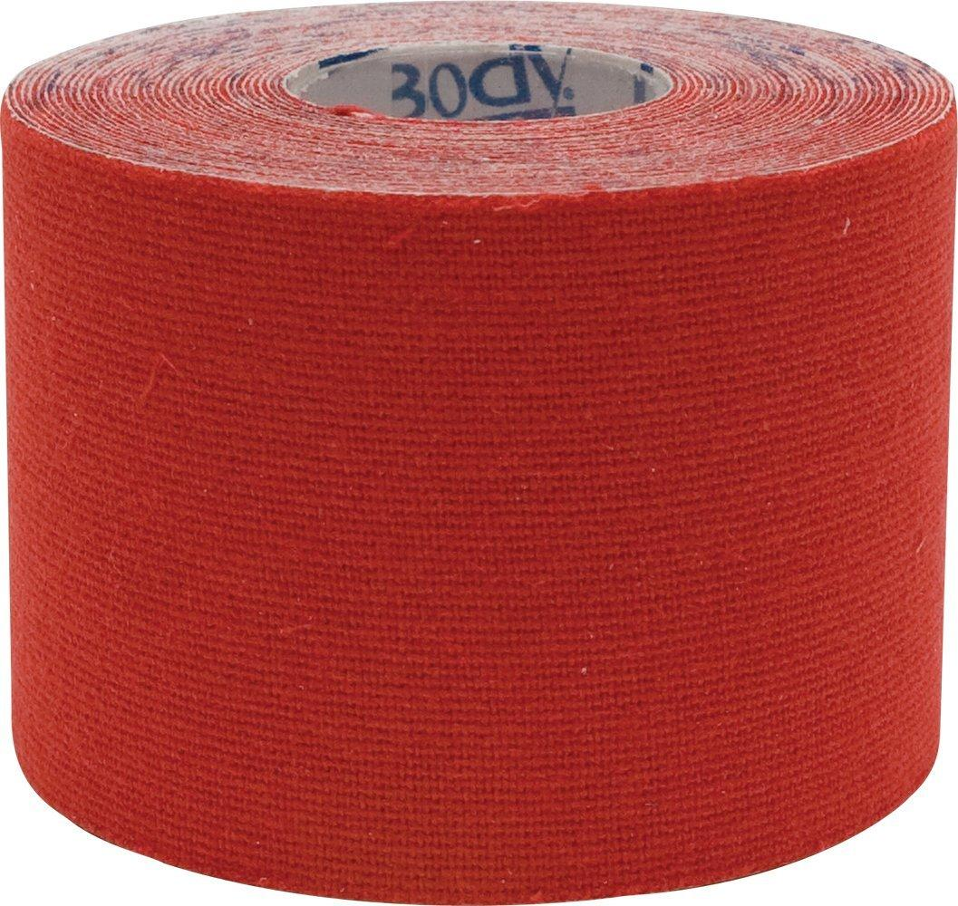 """Body Sport Physio Tape, 2"""" X 5 1/2 Yds, Red, Latex Free, Water Resistant"""