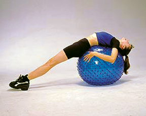Exercise Balls With Grip Studs